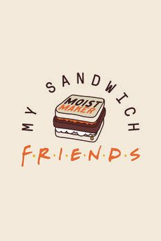 Canvas-taulu Friends - My sandwich