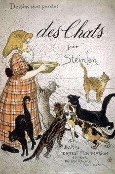 Canvas-taulu Front cover of 'Cats, Drawings Without Speech'