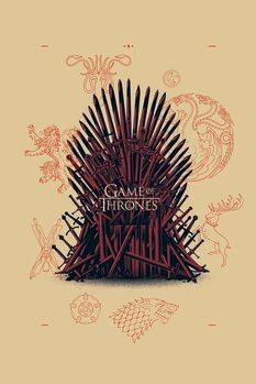 Canvas-taulu Game of Thrones - Iron Throne