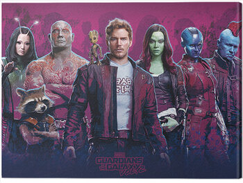 Canvas-taulu Guardians of The Galaxy Vol. 2 - Characters Vol. 2