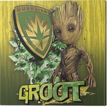 Canvas-taulu Guardians of The Galaxy Vol 2 - Groot Shield