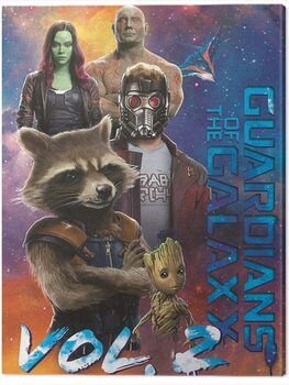Canvas-taulu Guardians of The Galaxy Vol. 2 - The Guardians