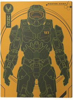 Canvas-taulu Halo: Infinite - Master Chief Tech