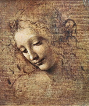 Canvas-taulu Head of a Young Woman with Tousled Hair or, Leda