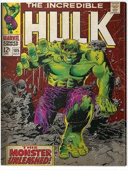 Canvas-taulu Incredible Hulk - Monster Unleashed