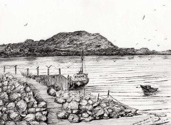 Iona from Mull Scotland, 2007, Canvas-taulu