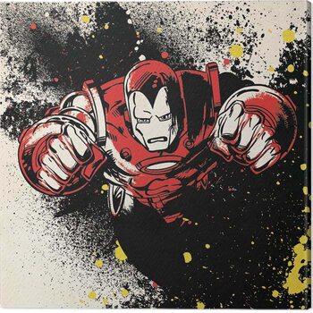 Canvas-taulu Iron-Man - Splatter
