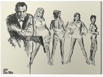 Canvas-taulu James Bond - Dr. No - Sketch