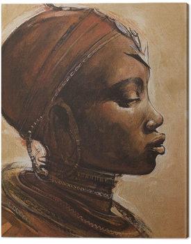 Jonathan Sanders - Masai Woman I Canvas-taulu