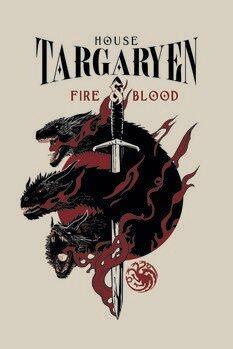Canvas-taulu Juego de tronos - House Targaryen