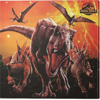 Canvas-taulu Jurassic World: Fallen Kingdom - Eruption