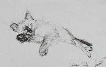 Canvas-taulu Kitty 'Baby', 2002,