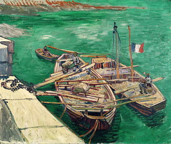 Landing Stage with Boats, 1888 Canvas-taulu
