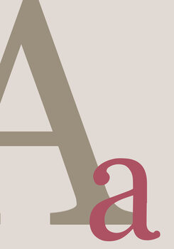 Canvas-taulu Letter A