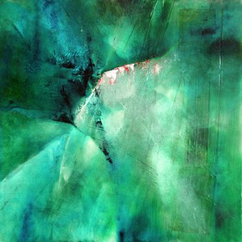 Canvas-taulu moody blue in green