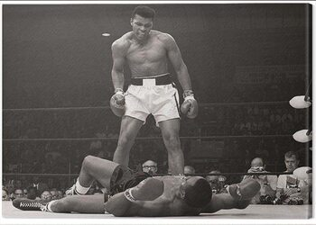 Canvas-taulu Muhammad Ali - Ali vs Liston Landscape
