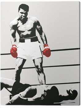 Canvas-taulu Muhammad Ali - Gloves