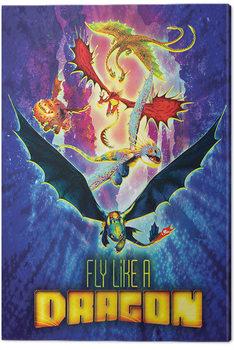 Canvas-taulu Näin koulutat lohikäärmeesi 3 - Fly Like A Dragon