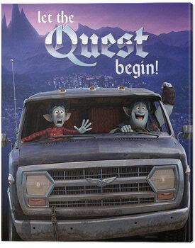 Canvas-taulu Onward (Eteenpäin) - Let The Quest Begin!
