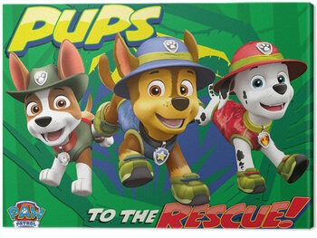 Canvas-taulu Paw Patrol - Pups To The Rescue