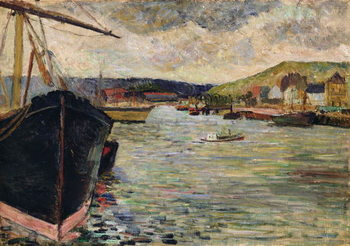 Port at Rouen Canvas-taulu