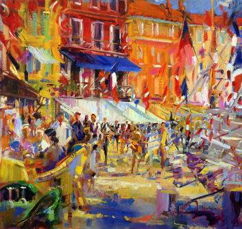 Canvas-taulu Port Promenade, Saint-Tropez