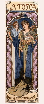 Canvas-taulu Poster for 'Tosca' with Sarah Bernhardt