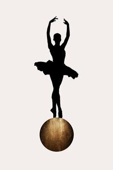 Canvas-taulu Prima Ballerina GOLD