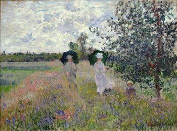 Canvas-taulu Promenade near Argenteuil, 1873