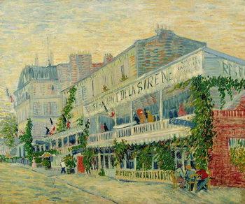 Canvas-taulu Restaurant de la Sirene at Asnieres, 1887