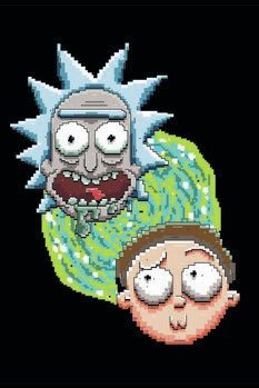 Canvas-taulu Rick and Morty - Iconic Duo