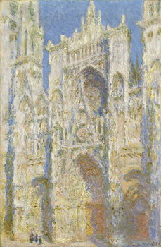 Canvas-taulu Rouen Cathedral, West Facade, Sunlight, 1894