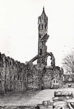 Canvas-taulu Ruin at St.Andrews, 2006,
