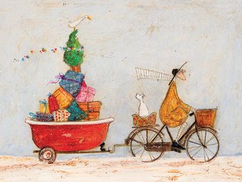 Sam Toft - A Tubful of Good Cheer Canvas-taulu
