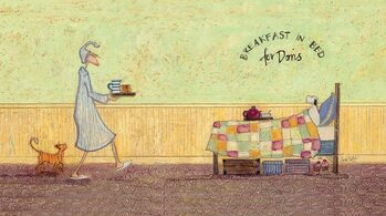 Canvas-taulu Sam Toft - Breakfast in bed for Doris