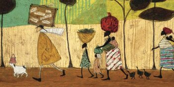 Canvas-taulu Sam Toft - Doris Helps Out on the Trip to Mzuzu