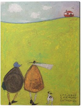Canvas-taulu Sam Toft - Little Red Caravan on the Hill