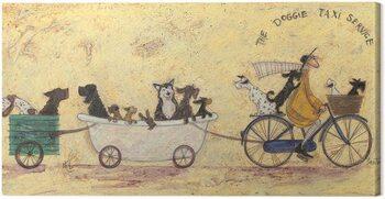 Canvas-taulu Sam Toft - The Doggie Taxi Service
