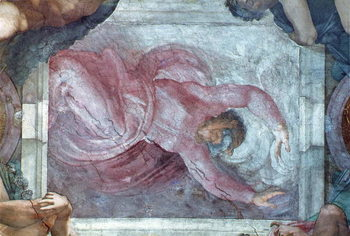 Sistine Chapel Ceiling: God Dividing Light from Darkness Canvas-taulu