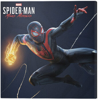 Canvas-taulu Spider-Man Miles Morales - Electric Fist Swing