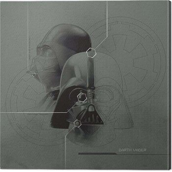 Canvas-taulu Star Wars - Darth Vader Diagram