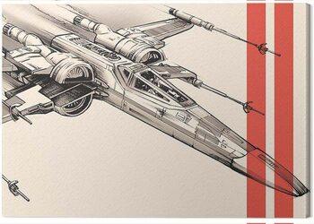 Canvas-taulu Star Wars Episode VII - X - Wing Pencil Art