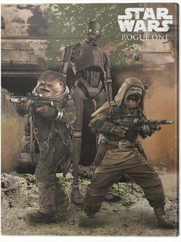 Canvas-taulu Star Wars Rogue One - Pao, Bistan & K - 2S0