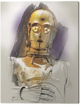 Canvas-taulu Star Wars The Last Jedi - C - 3PO Brushstroke