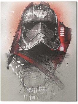 Canvas-taulu Star Wars The Last Jedi - Captain Phasma Brushstroke
