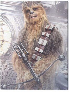 Canvas-taulu Star Wars The Last Jedi - Chewbacca Bowcaster