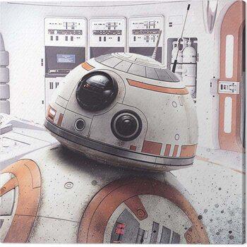 Canvas-taulu Star Wars The Last Jedi - Rey Lightsaber Guard