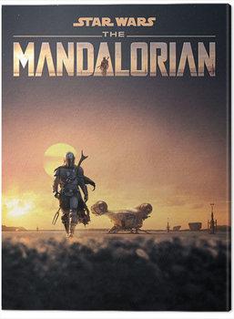 Canvas-taulu Star Wars: The Mandalorian - Dusk