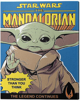 Canvas-taulu Star Wars: The Mandalorian - Stronger Than You Think