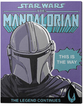 Canvas-taulu Star Wars: The Mandalorian - This Is The Way